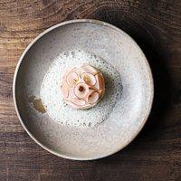 Lumpfish and radish.