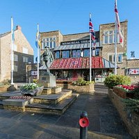 Frome Memorial Theatre during Remembrance Day. We celebrate each year with a service outside the theatre.