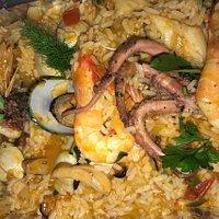 Seafood rice arroz de marisco