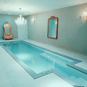 Indoors heated swimming pool.