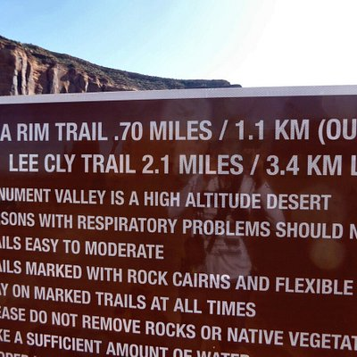 Sign at Trail head