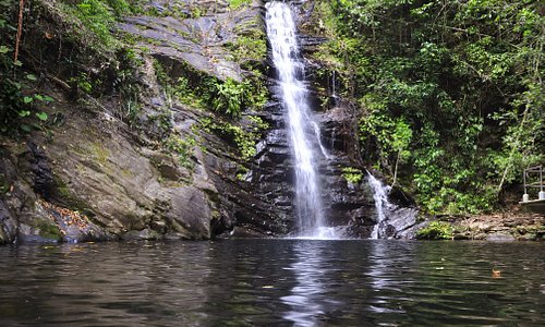 Waterfalls at Mayan Sky Canopy Tours in Southern Belize