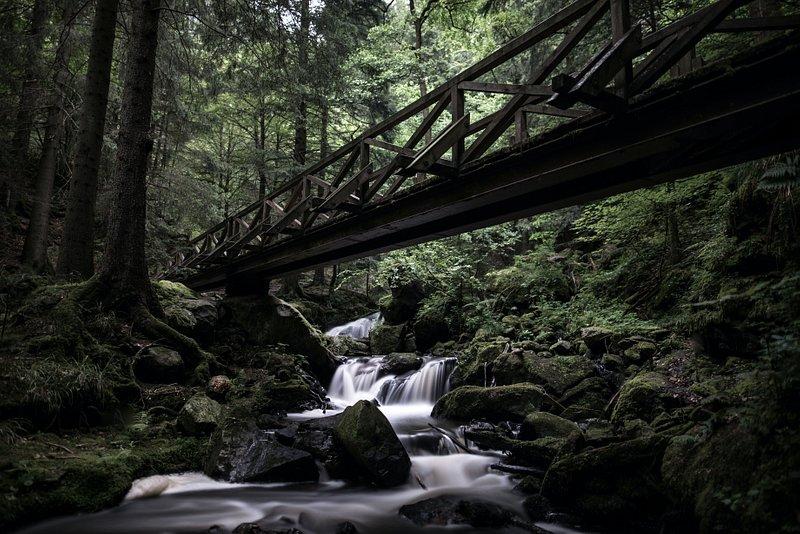 Wasserfall im Schwarzwald, Deutschland