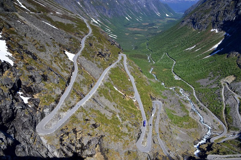 Trollstigen: Bergstraße nach Geiranger, Norwegen