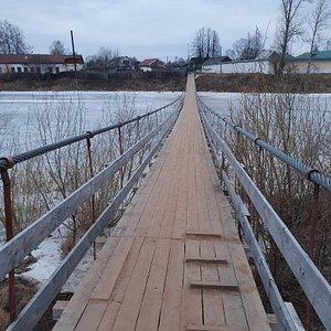 Подвесной мост через реку Мсту
