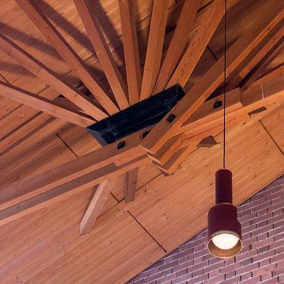 Säynätsalo Town Hall, roof sturcture