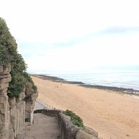 Ramsgate East Cliff Beach and path up to East Cliff Promenade