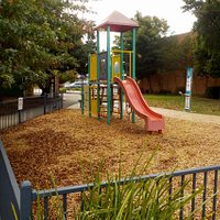 small fenced playground