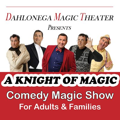 "The Dahlonega Magic Theater presents - ""A Knight of Magic"" - a hilarious comedy magic show which is great for adults and perfect for the whole family.  Shows typically run most weekends from March through October.  See www.DahlonegaMagicTheater.com for details and tickets."