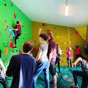 Half of the climbing area