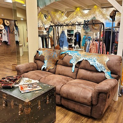 Tailored West in Chapel Hills Mall, Suite 837  Colorado Springs. Cozy seating area.