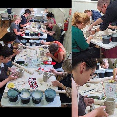 Clay cup workshop in Launceston