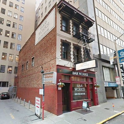 The 100-year-old three-story building represents a bygone era of San Francisco fine dining. The brick on the outside is original.