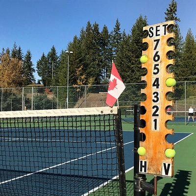 Four Outdoor courts offer seasonal tennis for Club members and guests.