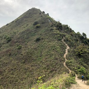 Pyramid Hill in the Ma On Shan Country Park - about to start the climb
