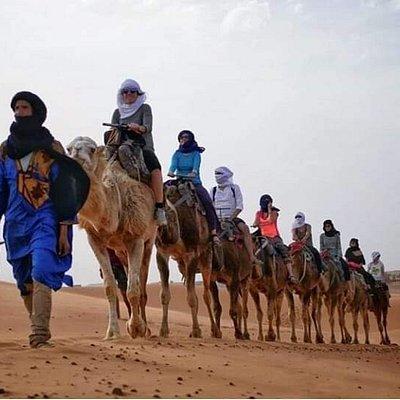 Camel Trekking night in sahara desert camp
