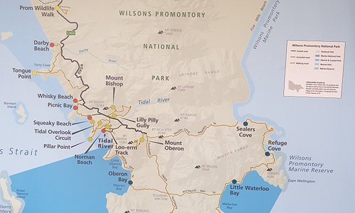 Map of the National Park