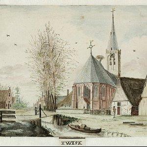 Gravure, ingekleurd, wsl vroeg 18e eeuw