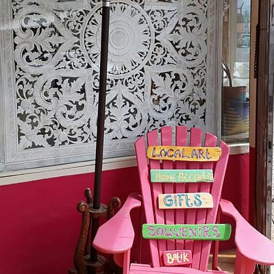 Chair at entrance of the store