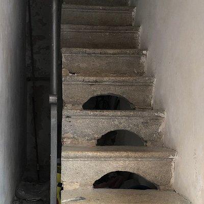 Una scalinata d'altri tempi !