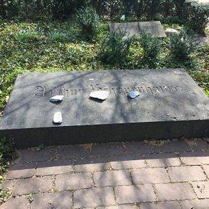 Das Schopenhauer-Grab am Karfreitag 2021.