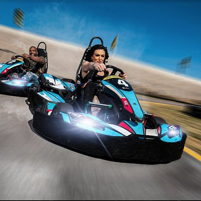 Our Euro high-speed go karts are location on the baddest and biggest track in Nevada.  These karts can reach speeds of up to 47 mph.  Guests 14 and over can race on this track that spans 2 acres.