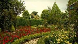 de Franse tuin in maand juni
