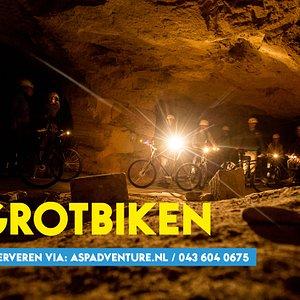 grotbiken, een onvergetelijke tocht op 40m diepte!