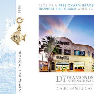 Receive a Free Charm Bracelet & Tropical Fish Charm When You Visit Diamonds International Cabo San Lucas