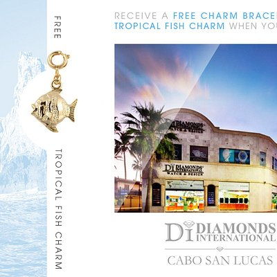 Receive a Free Charm Bracelet & Tropical Fish Charm When You Visit Diamonds International Cabo San Lucas