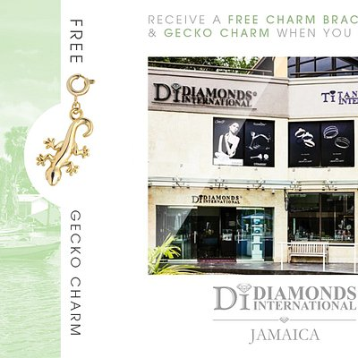 Receive a Free Charm Bracelet & Gecko Charm When You Visit Diamonds International Jamaica.