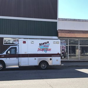 Mobile Escape Unit outside the historic storefront