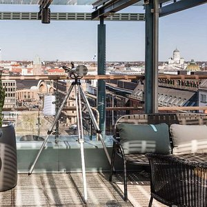 Scandic simonkentta rooftop bar