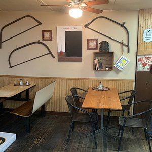 Enjoy a sandwich or pizza in our comfortable seating area.