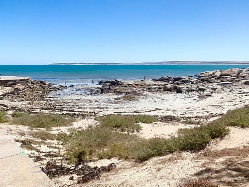 View of Paternoster's main beach from Crayfish Wharf