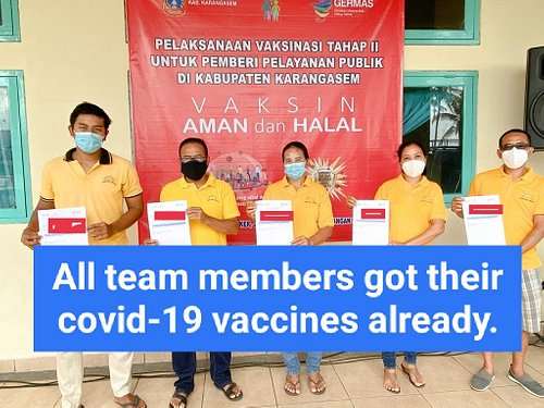 Covid-19 vaccines for all team members