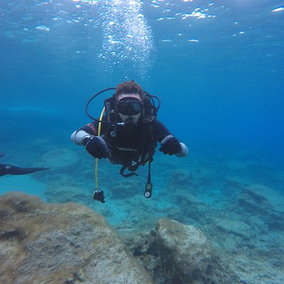 Diving in the crystal clear water of the Mediterranean sea, Protaras is a place where you can dive into the beautiful sites of the Island.    We can provide you with the best quality diving types of equipment, Air,  Nitrox up to Trimix gases.