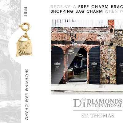 Receive a Free Charm Bracelet & Shopping Bag Charm When You Visit Diamonds International St. Thomas.