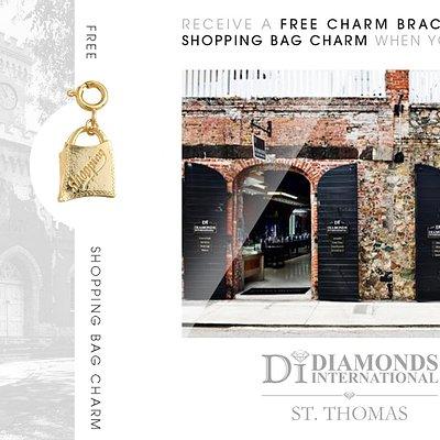 Receive a Free Charm Bracelet & Shopping Bag Charm When You Visit Diamonds International St. Thomas.