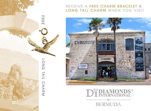 Receive a Free Charm Bracelet & Long Tail Charm When You Visit Diamonds International Bermuda.