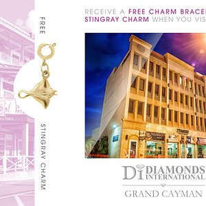 Receive a Free Charm Bracelet & Stingray Charm When You Visit Diamonds International Gran Cayman.