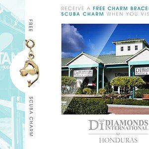 Receive a Free Charm Bracelet & Scuba Charm When You Visit Diamonds International Honduras.
