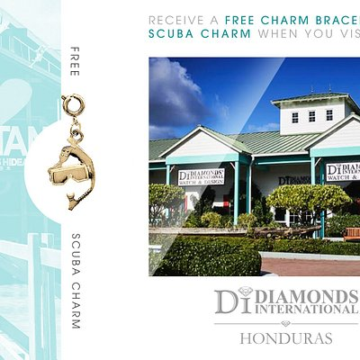 Receive a Free Charm Bracelet & Scuba Charm When You Visit Diamonds International Honduras.