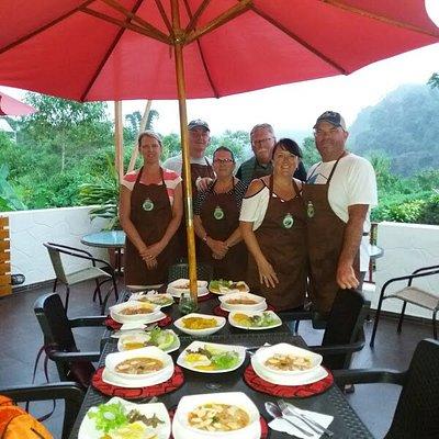Enjoying cooking classes in Ecuador