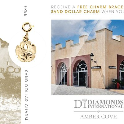 Receive a Free Charm Bracelet & Sand Dollar Charm When You Visit Diamonds International Amber Cove.