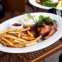 Rotisserie BBQ Chicken at Doolittles Woodfire Grill