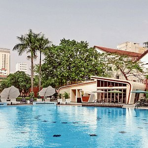 Biggest outdoor hotel swimming pool in Ho Chi Minh City.