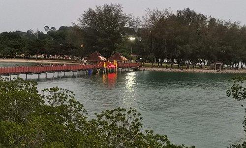 The bridge from mainland to Pulau Burung