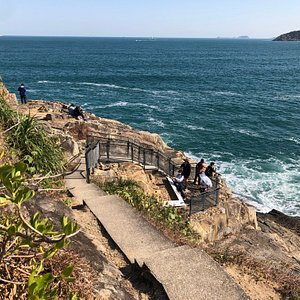 These ancient rock carvings at Big Wave Bay date back 3000 years ago, to the Bronze Age. They are easily seen by following the walking trail around the headland.