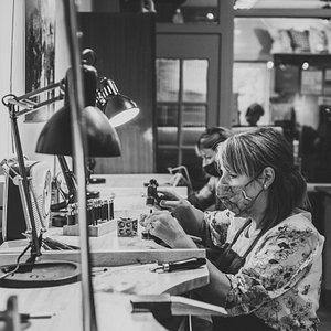 You will learn lots of jewellery skills, such as saw piercing, filing, soldering, surface textures, metal forming and polishing, all in one day!